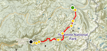 Tuolumne Meadows to Yosemite Valley Trail California AllTrails