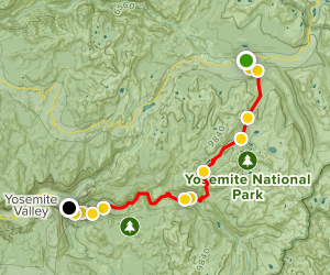 Tuolumne Meadows to Yosemite Valley Trail Map