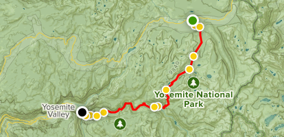 Tuolumne Meadows to Yosemite Valley Trail - California | AllTrails on culture of yosemite, political map of yosemite, weather map of yosemite, physical map of yosemite, topo map of yosemite, road map of yosemite, state map of yosemite, geological map of yosemite, climate of yosemite, geography of yosemite,