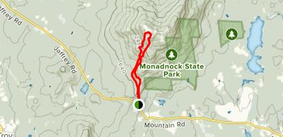 Old Halfway House Trail to White Arrow Trail Loop Map