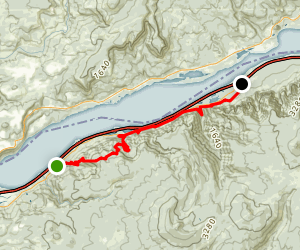 Gorge 400 Trail from Angels Rest to Ainsworth State Park Map