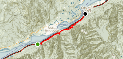 Gorge 400 Trail from John B Yeon to Cascade Locks Map
