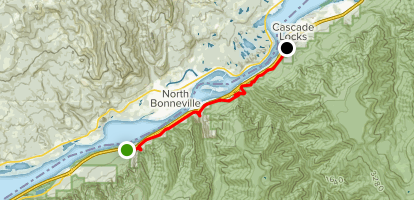 Gorge 400 Trail from John B Yeon to Cascade Locks (CLOSED) Map
