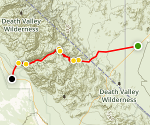 Titus Canyon Road Map