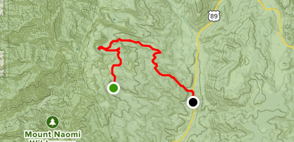 White Pine Lake Trail to Bunchgrass Trail Map