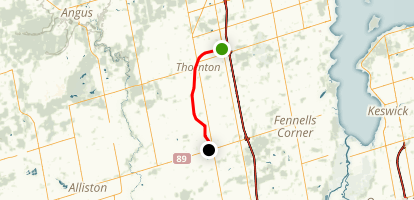 Thornton-Cookstown Trans Canada Trail Map