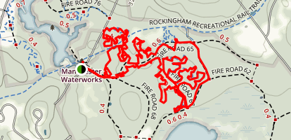 FOMBA Trails- Lady Slipper, Deer Run, Moose Tracks, and Fisher Cat Loop Trails Map