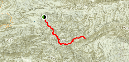Lion Canyon Trail to Hines Peak Map