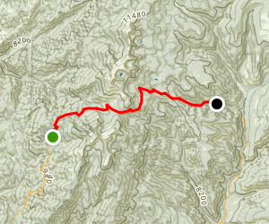 Winsor Trail: Aspen Basin to Winsor Road Map
