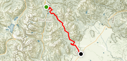 Boreas Pass Road Trail Map