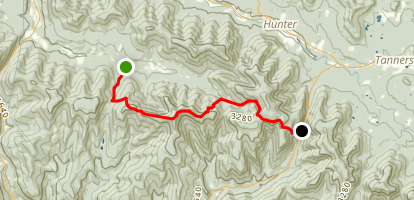 Devil's Path Red Trail Map