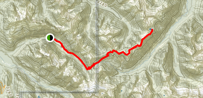 Copper Ridge Trail To Copper Lake Map