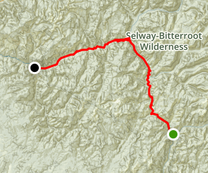 Selway River Rafting Map