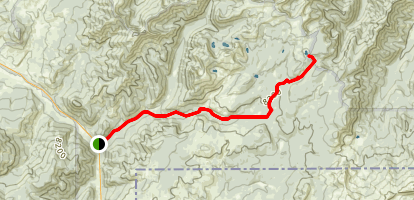 Specimen Creek Trail to High Lake Map
