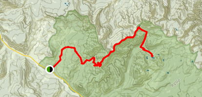 Daly Creek to Crescent Lake Map