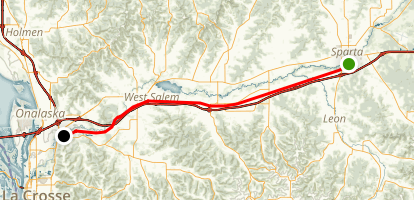 La Crosse River State Trail Map