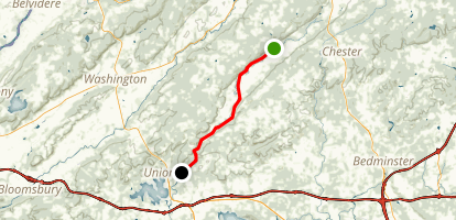 Columbia Trail - Long Valley to High Bridge Map