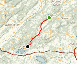 Columbia Trail: Long Valley to High Bridge Map