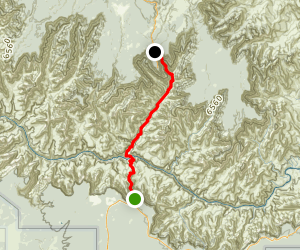 South to North Kaibab Trail Map