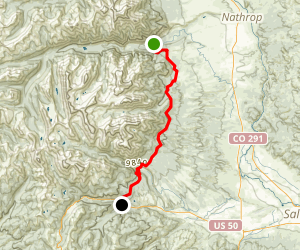 The Colorado Trail- Chalk Creek to US 50 Map