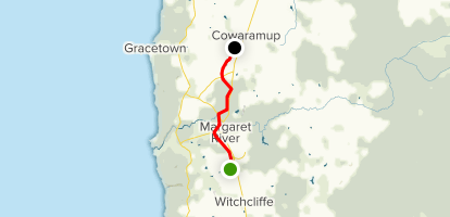 Busselton - Flinders Bay Rail Trail: Cowaramup Section Map