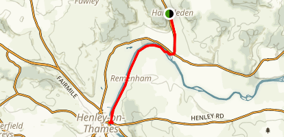 Hambledon to Henleyvia via Thames Path Map