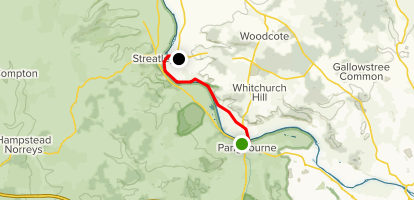 Pangbourne to Goring via Thames Path Map