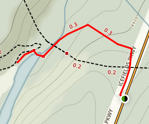 Mistaya Canyon Map