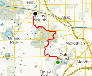 Tinley Creek Purple, Green and Red Trails Map