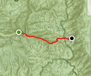 Roads End to Onion Valley Trail Map