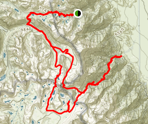 Onion Valley, Kearsarge Pass, Forrester Pass, Shepherds Pass Backpacking Trip Map