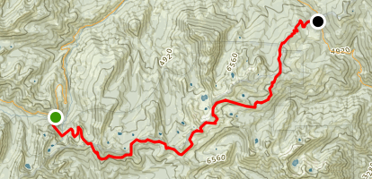 Carter Meadows Summit to Scott Mountain Summit via the PCT Map