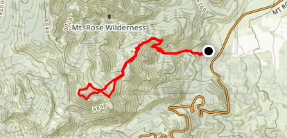 Mount Rose From Galena Creek Map