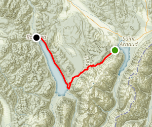 Spearglass Track to Lake Rotoroa Map