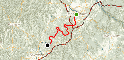 Mon River South Trail Map
