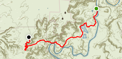 Shafer Trail Map