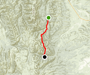 High Line Trail to Hoback Canyon Map