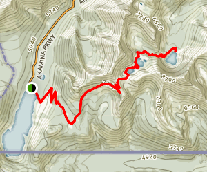 Carthew and Alderson Lakes Trail Map
