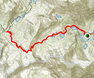 Virginia Lakes Trail Map