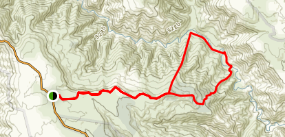 King Spur, Mayford, and McMillans Track  Map