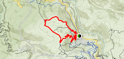 High Voltage and Frying Pan Loop Trail  Map