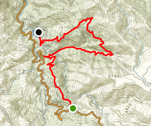 Mount Arthur Fire Track to Lake Guy Walk Map