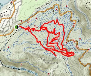 Mount Beauty Mountain Bike Loop Map
