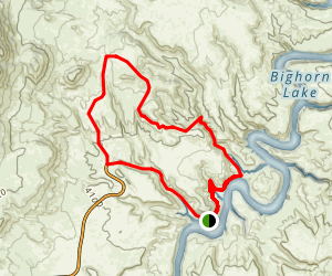 Medicine Creek/ South Pasture Loop Map
