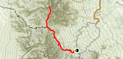 Baylor Peak From Aguirre Springs Map