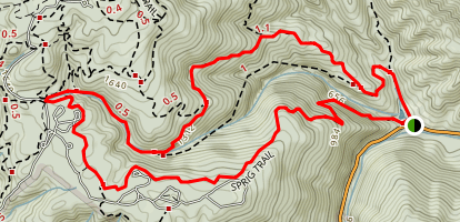 Ridge Trail to Sprig Trail Loop Map