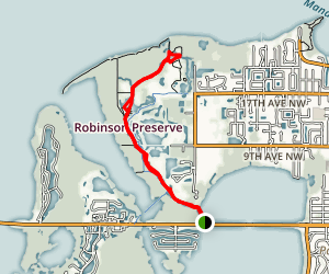 Robinson Preserve Paddle Map