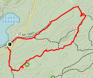Conklin Mountain Loop Via 7 Hills and Buck Trails Map