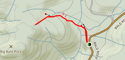 Big Bald Trail Map