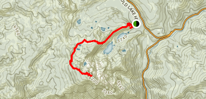 Sardine Lakes to Sierra Buttes Lookout Map